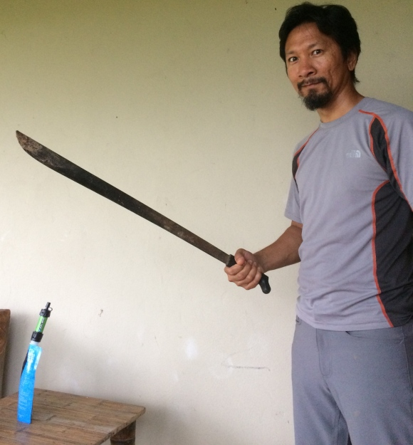 Our machete for the jungloe