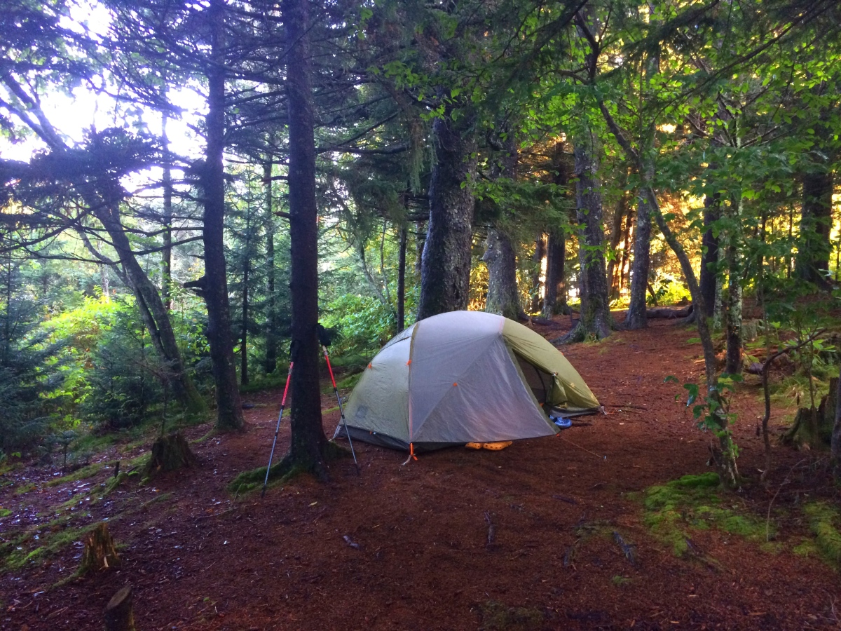 tent in the Great Smoky Mountains