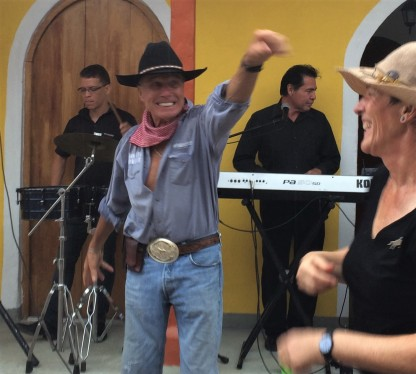 Roger the Cowboy in Boquete dancing