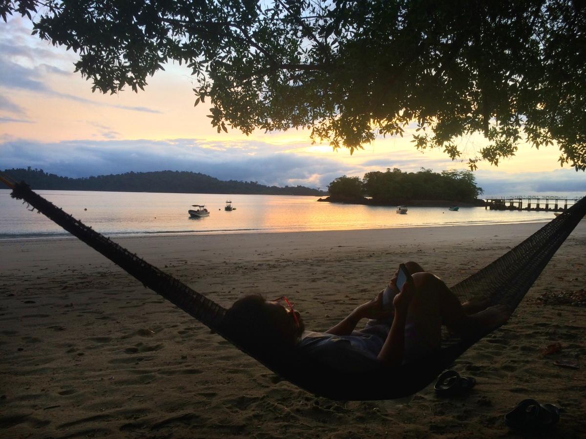 relaxing in Coiba