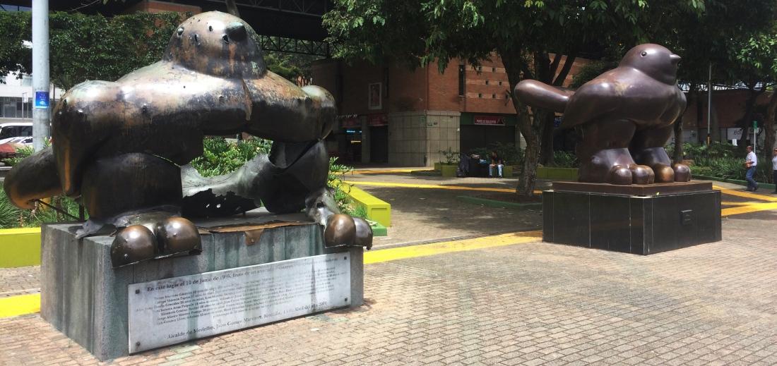 Bird of Peace by Fernando Botero in Medellin