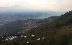 Medellin far below
