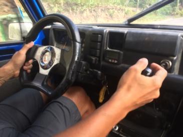 Stick shift in the dash