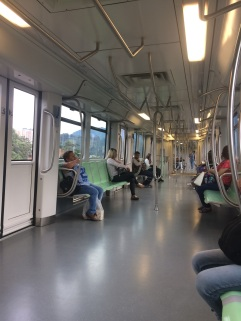 Clean modern metro in Medellin