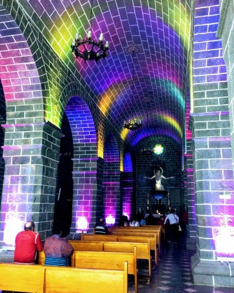 Small chapel in the basement of Las Lajas Sanctuary